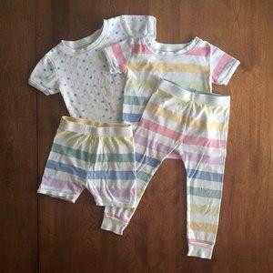 Old Navy pastel pajamas 3T